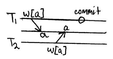 w1[x]…w2[x]…(c1 or a1)